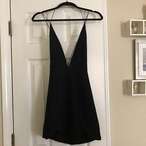 Nasty gal black plunge neckline dress